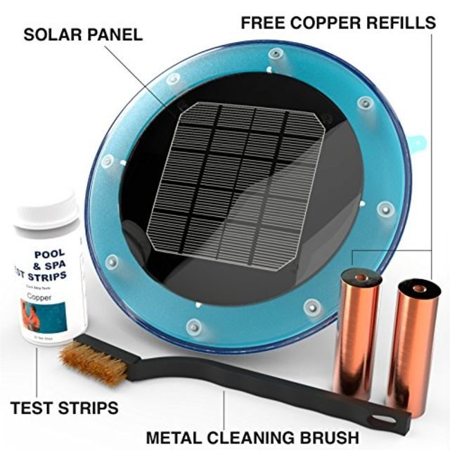 BLUE WORKS Solar Ionizer Powered Pool Purifier