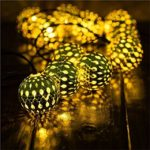 Goodia 30 LED Gold Moroccan String Lights