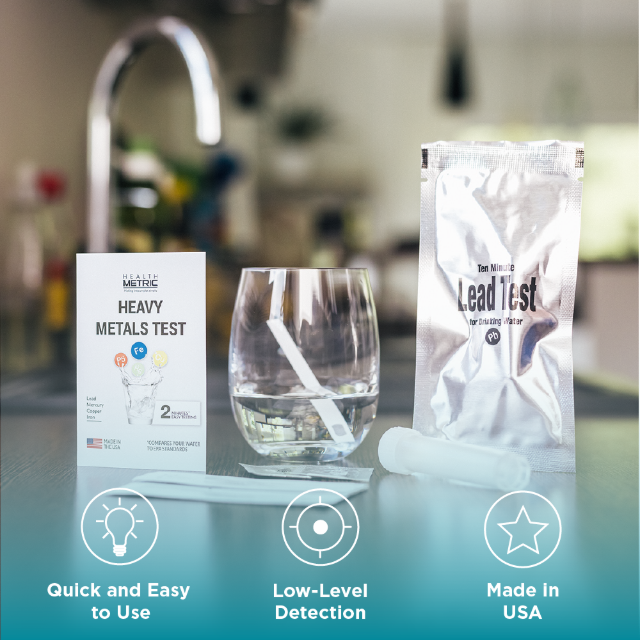 Health Metric Lead Iron Copper and Mercury- Home Water Test Kit