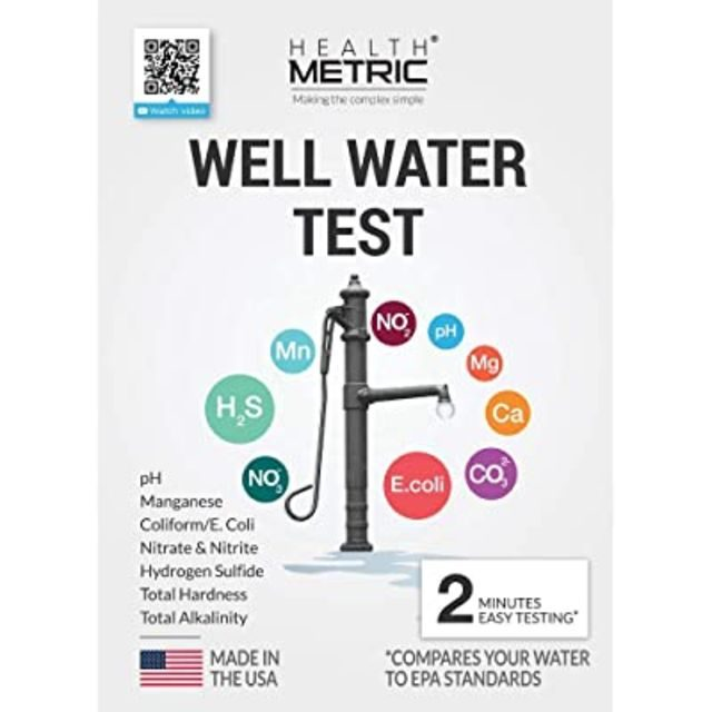 Health Metric Well Water Test Kit for Drinking Water