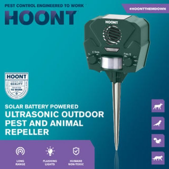 Hoont Advanced Motion Activated Solar Powered Ultrasonic Animal Repeller1