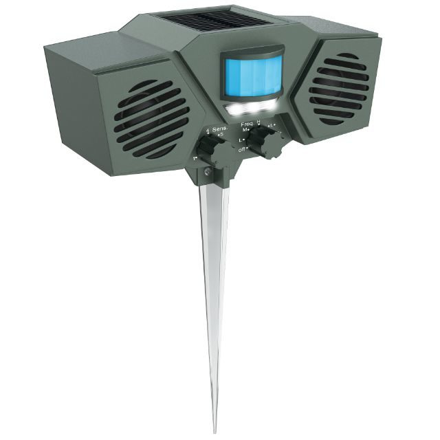 Hoont Solar Powered Motion Activated Ultrasonic Animal Repeller