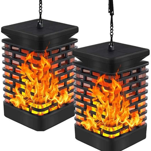 Solar Flame Outdoor Hanging Lights