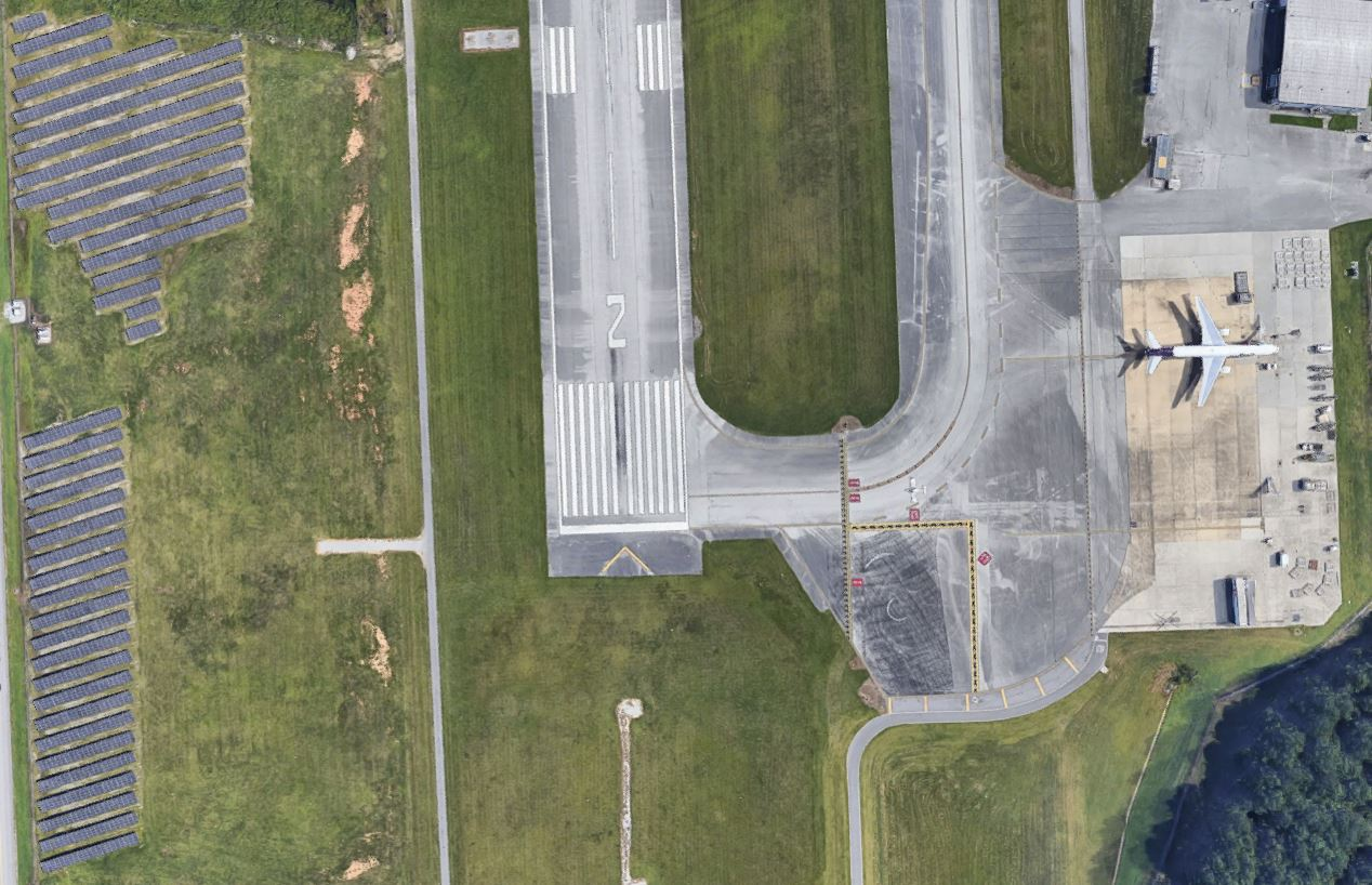 Chattanooga Airport, Tennessee, the US