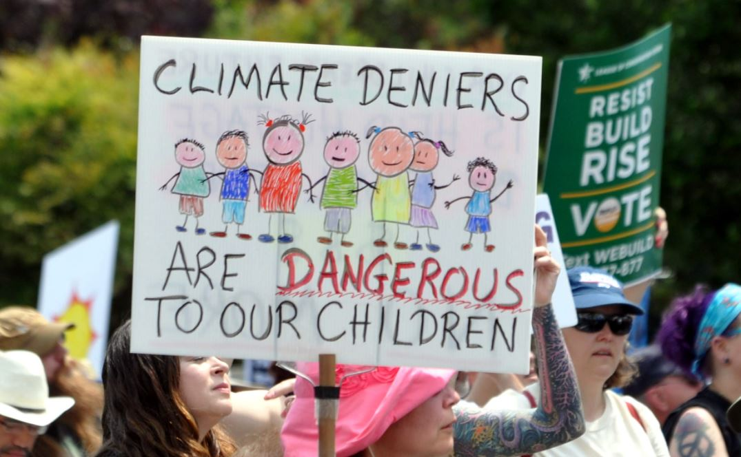 Climate Change Denial Protest