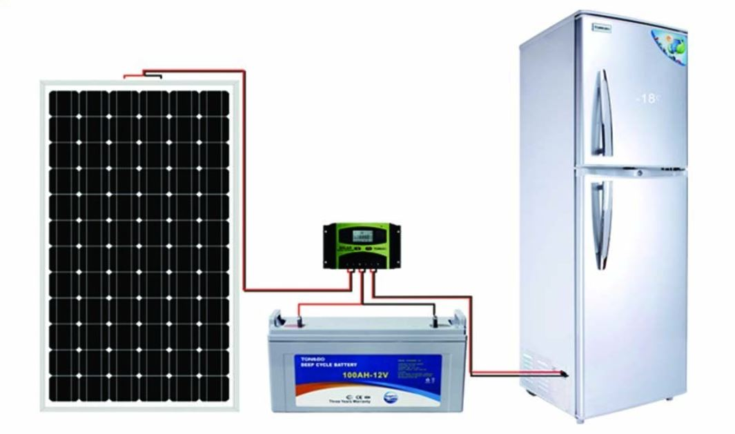 How many solar panels do you require to run a refrigerator?