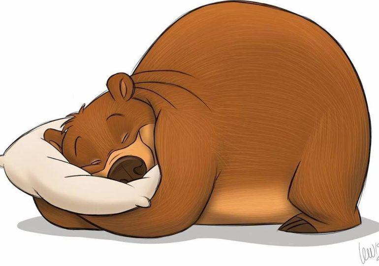Hibernating animal animated