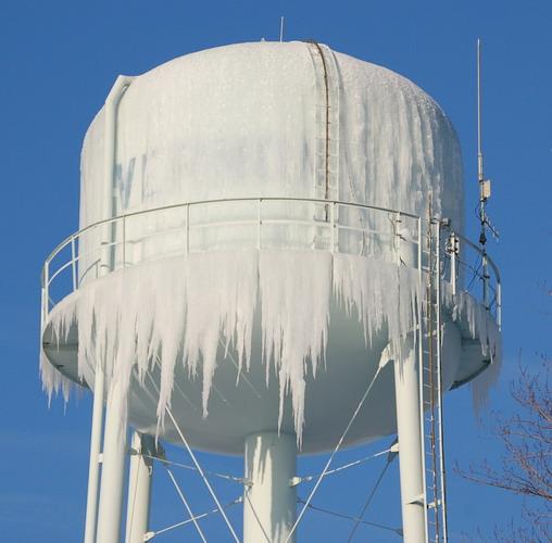 Frozen Water tank in winter